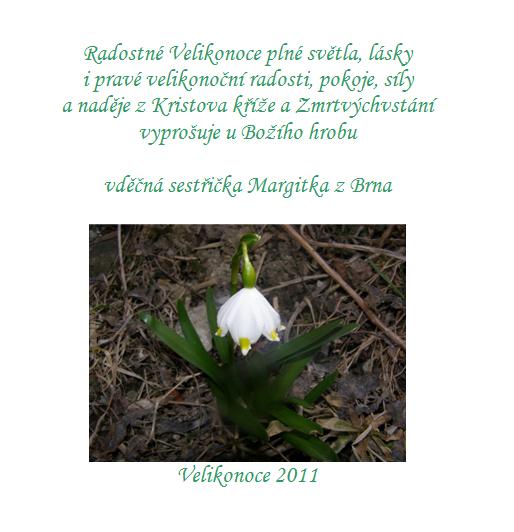 Velikonoční přání od sestry Margity
